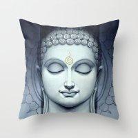 buddah Throw Pillows featuring BUDDAH by I Love Decor