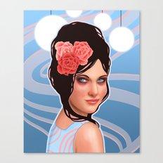 Retro Dancer with Beehive Hairdo Canvas Print