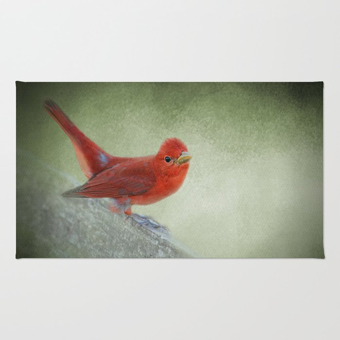 Song of the Summer Tanager 4 - Birds Rug