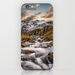 Cwm Idwal Snowdonia Sunset iPhone Case