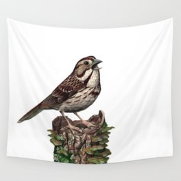 Song Sparrow Wall Tapestry