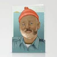 the life aquatic Stationery Cards featuring An Aquatic Life by harrylime
