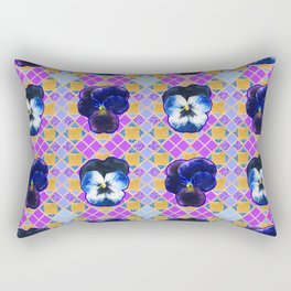 Pretty purple geometric floral print Rectangular Pillow