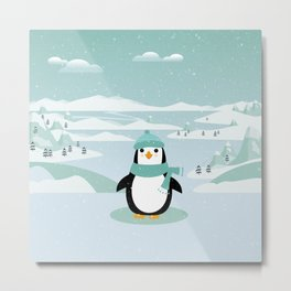 AFE Winter Penguin Metal Print