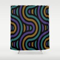 ramen Shower Curtains featuring ramen by bigpoppae