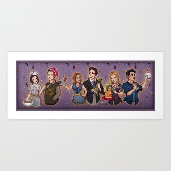 Friends TV Show - Monica Chandler Rachel Ross Phoebe Joey Art Print ...