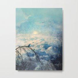 HEAVENLY BIRDS III-A Metal Print