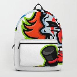 Whiteface Clown Skull Mascot Backpack