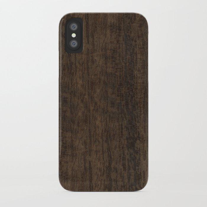 Smoked Etimoe Wood iPhone Case