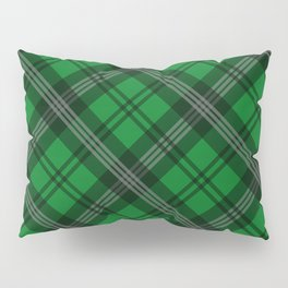Scottish Plaid (Tartan) - Green Pillow Sham