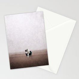 Astronaut reading news ... Stationery Cards