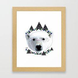 Folk bear Framed Art Print