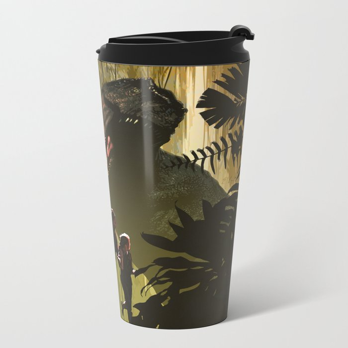 Dinosaur Poster Metal Travel Mug