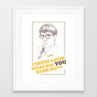 rushmore Framed Art Prints featuring Rushmore by Michelle Eatough