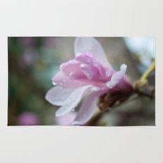 spring pink magnolia flower photography.   Rug