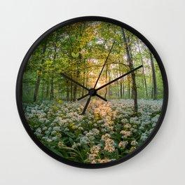 Bear's Garlic Forest Wall Clock