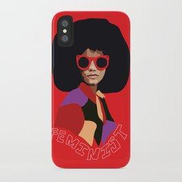 Feminist Afro iPhone Case