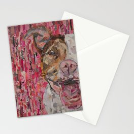pittie in pink Stationery Cards