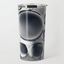 Silver Macro Photography Water Droplets Travel Mug