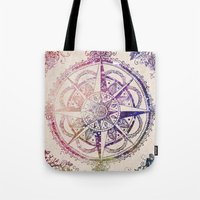 rose Tote Bags featuring Voyager II by Jenndalyn
