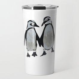 Penguins Kids #penguins #birdsart Travel Mug