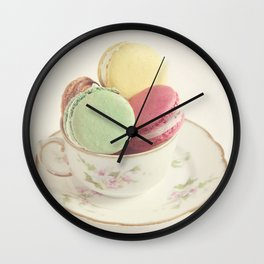Teacup Macarons Wall Clock