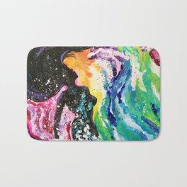 Mermaid in Waves Painting Bath Mat