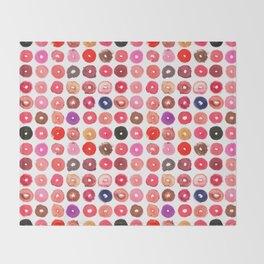 Lipstick Donuts Throw Blanket