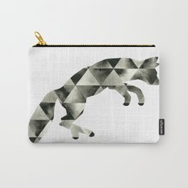 Geometric Fractured Fox  Carry-All Pouch