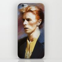 bowie iPhone & iPod Skins featuring Bowie by Cristina Sandia