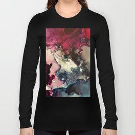 Dark Inks - Alcohol Ink Painting Long Sleeve T-shirt
