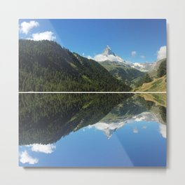 Zermatt Skies Metal Print