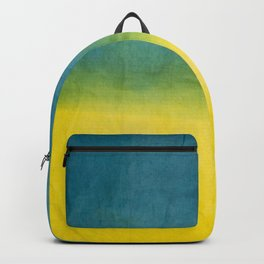 blue yellow ombre Backpack