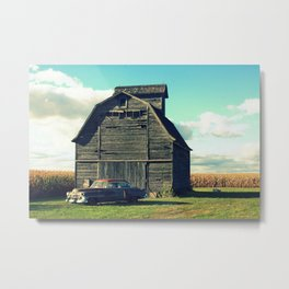 Caddie in a Corn Field Metal Print