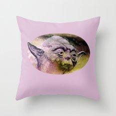 YODA - portrait Throw Pillow