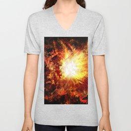 Distorted Sunburst Unisex V-Neck