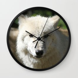 Poly Animals - Wolf Wall Clock