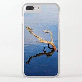 Lakes Edge Tranquility Clear iPhone Case