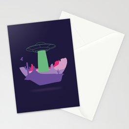 Desert ufo island Stationery Cards