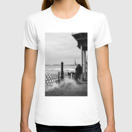 Liberty from the back of The Boat T-shirt