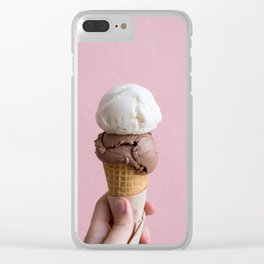 Summer Ice Cream Clear iPhone Case