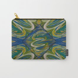 Blue Green Pattern 2 Carry-All Pouch