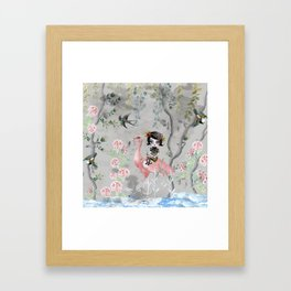 Grey sky Framed Art Print