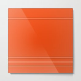 Monochrome . Orange juicy . Metal Print