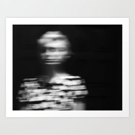 Girlfriend Blur Art Print