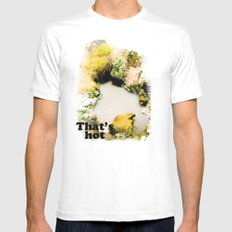 Thermal Pool White Mens Fitted Tee MEDIUM