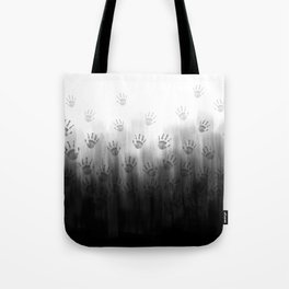 Terror Black Hands Tote Bag