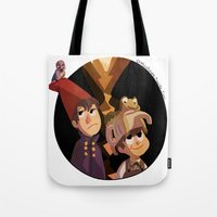 over the garden wall Tote Bags featuring Over the Garden Wall by stubbornpotato