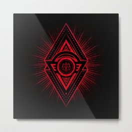 The Eye of Providence is watching you! (Diabolic red Freemason / Illuminati symbolic) Metal Print