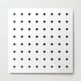 Swiss Cross White Small Metal Print